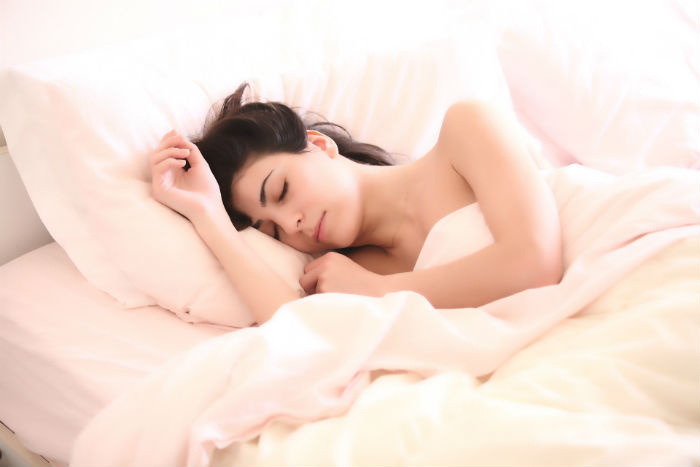Get adequate sleep in a pain-reducing position