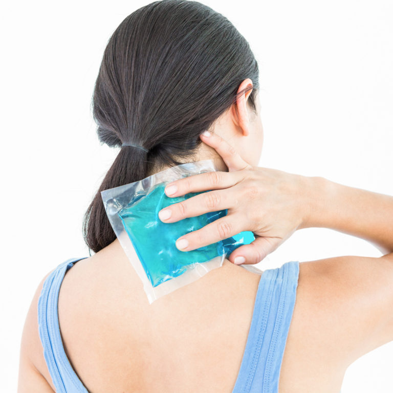 how is whiplash treated cold pack tip
